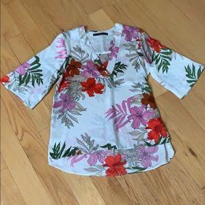 EUC Zara Floral Blouse, Sz Small